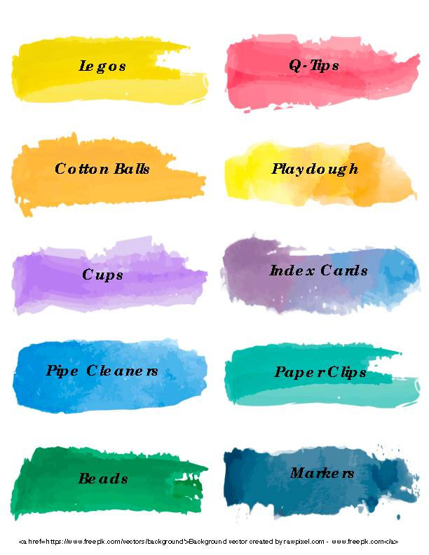 Watercolor Labels 2x4