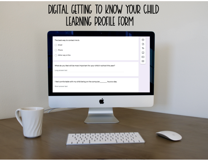 Getting to Know You/Learning Profile Form for students & families (Google Forms)