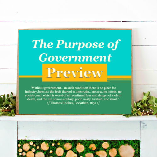 The Purpose of Government Powerpoint