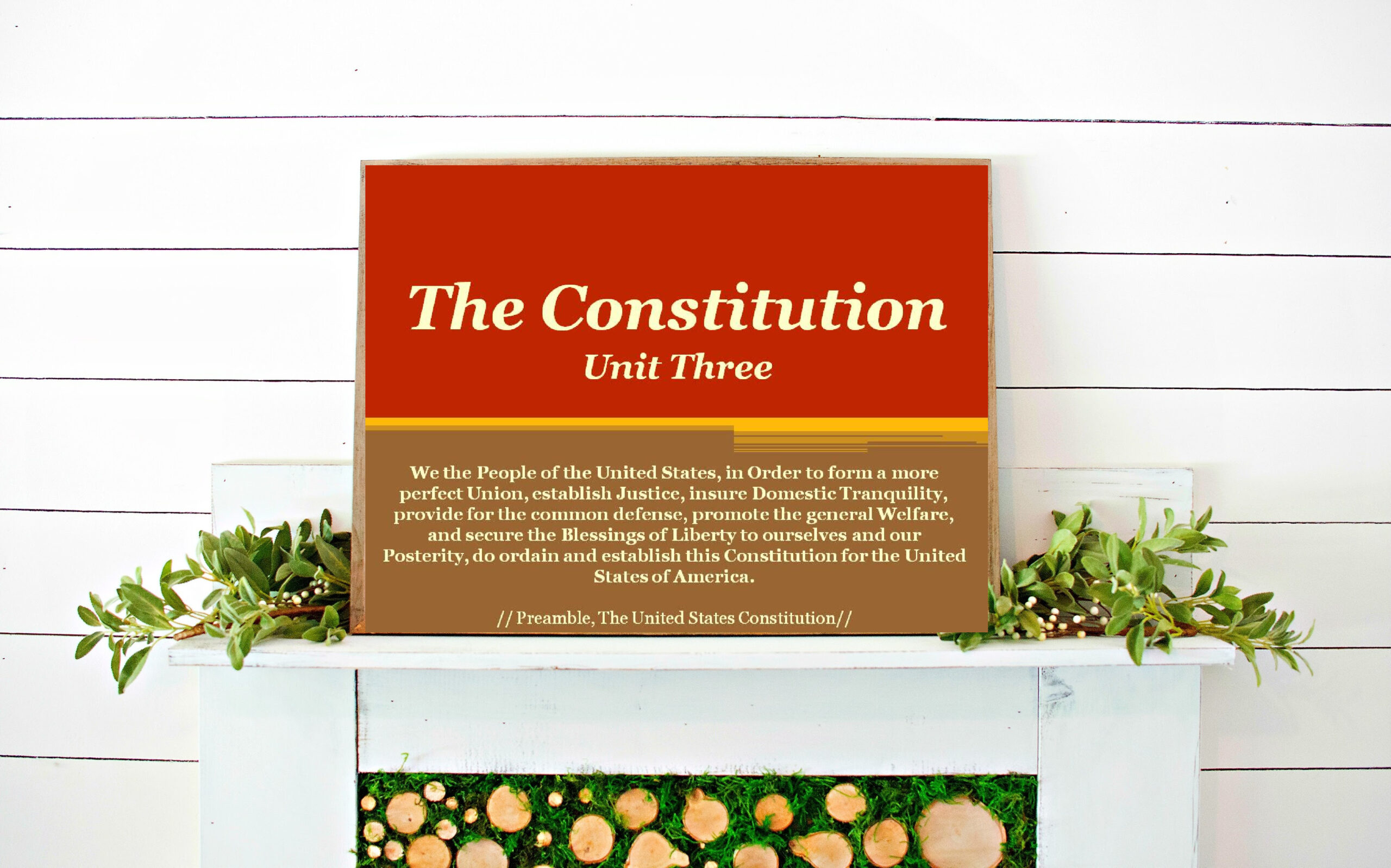 The Constitution-A Blueprint for Government // Chapter 3 US Gov Powerpoint