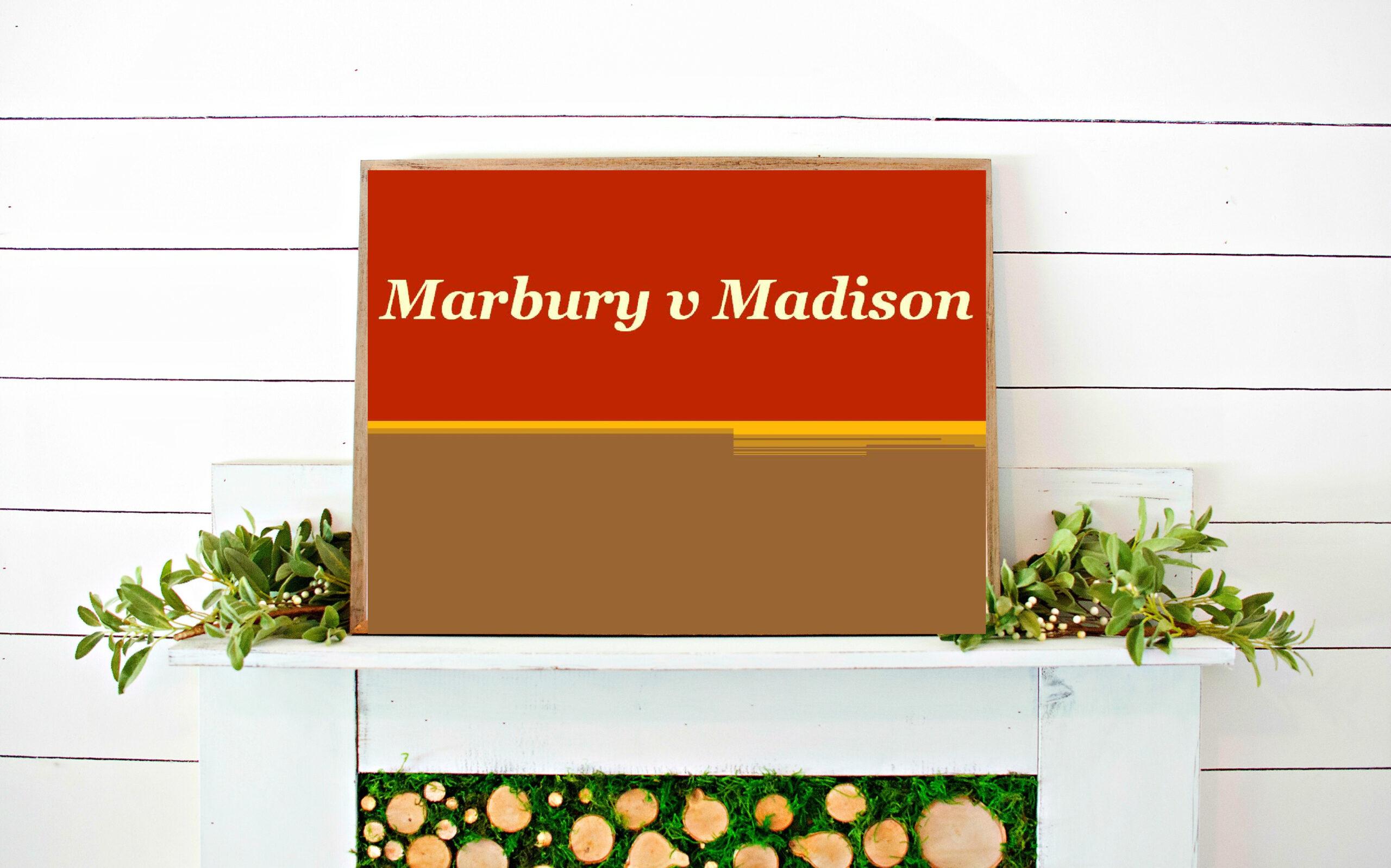 Marbury v Madison Powerpoint