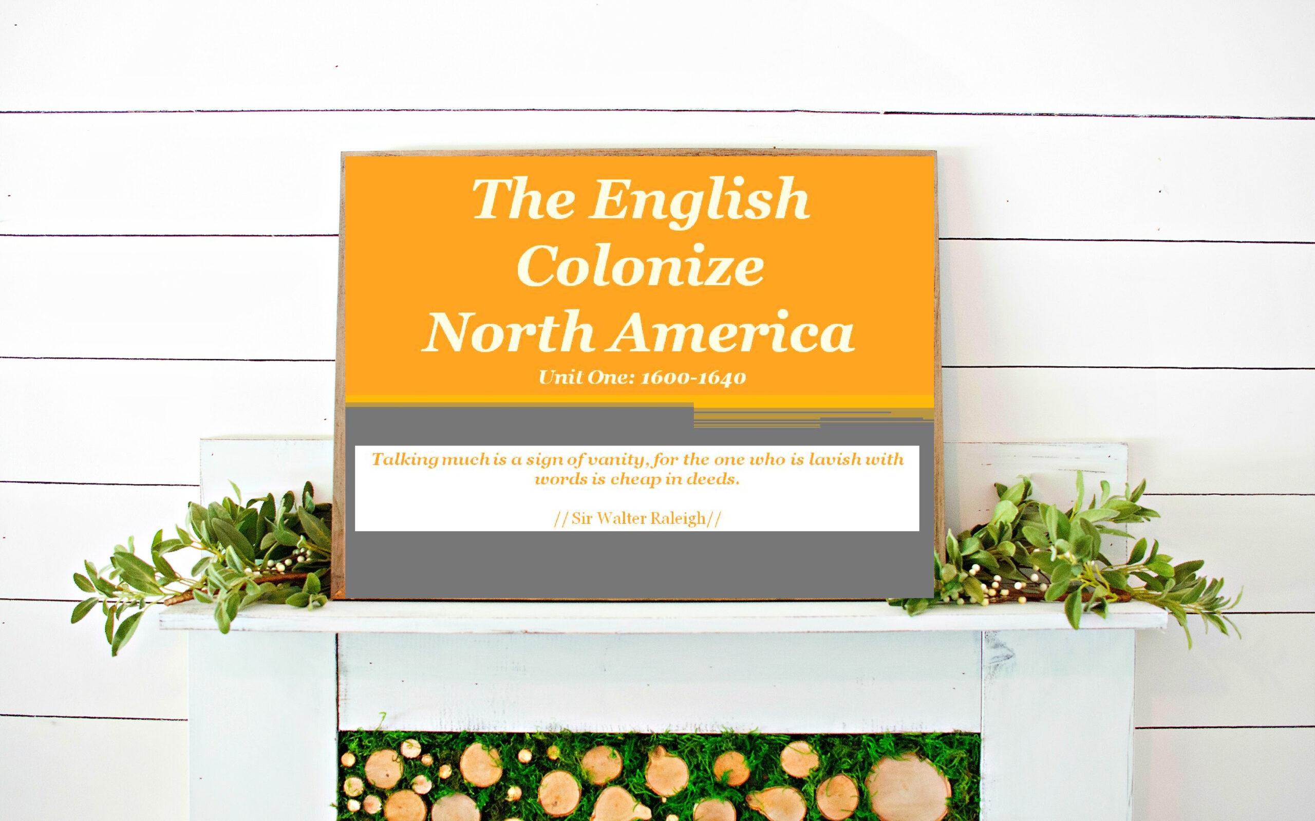 American History:The English Colonize North America (1600-1640) //Middle School