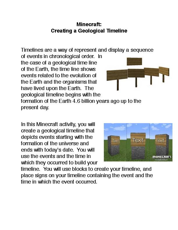 Minecraft: Creating A Geological Timeline PDF's featured image