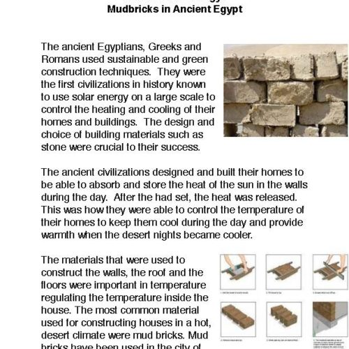 Ancient Technology: Mudbricks in Ancient Egypt