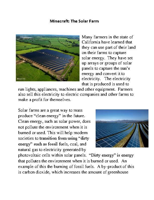 Minecraft: The Solar Crop PDF's featured image