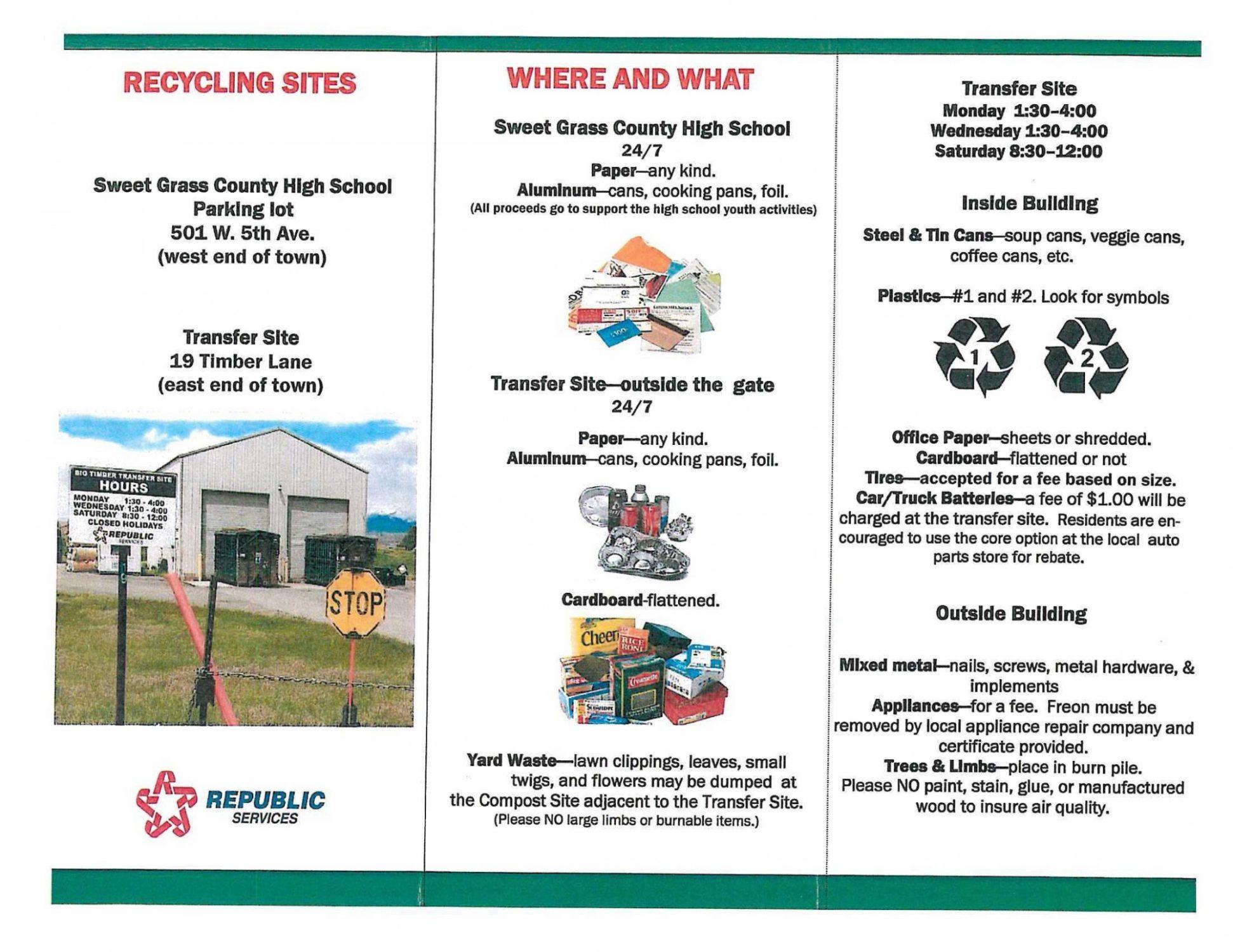 Recycle brochure
