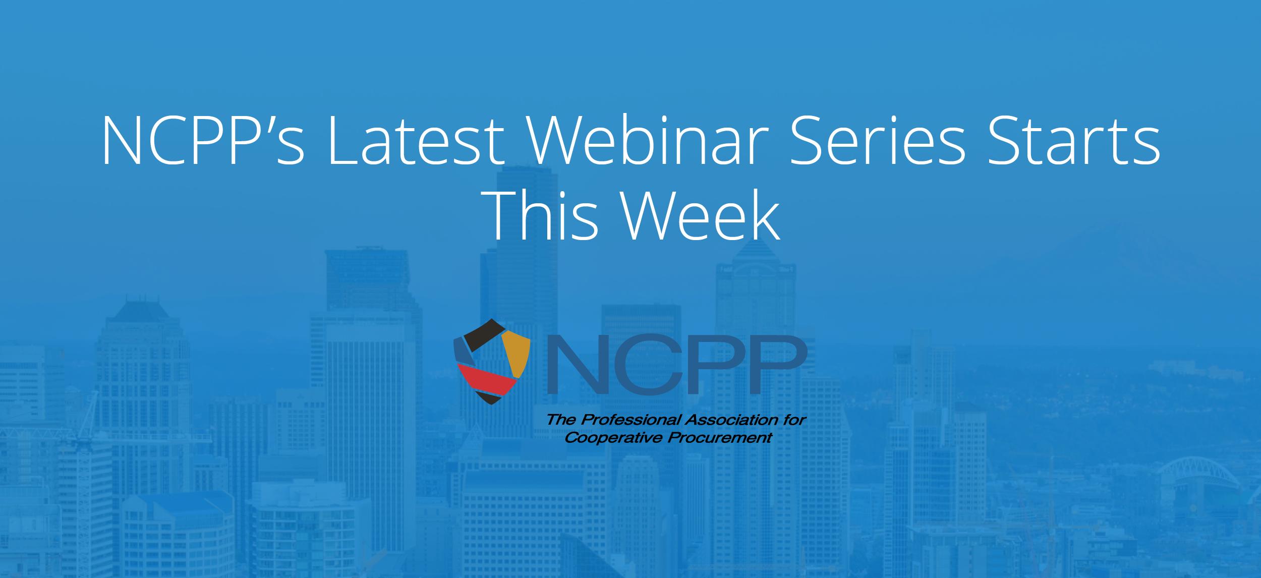 Register for NCPP's Free Emergency Preparedness Webinar Series