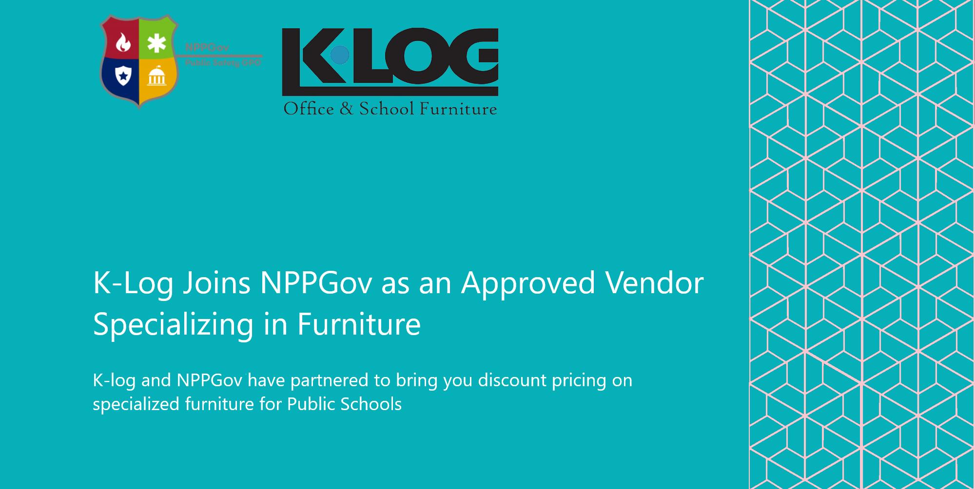 K-Log Joins NPPGov as an Approved Vendor Specializing in Furniture