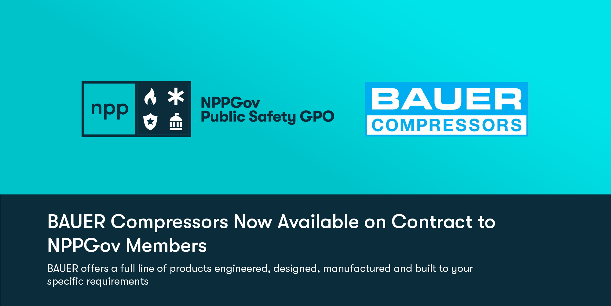 BAUER Compressors Joins NPPGov as an Approved Vendor Specializing in High-Pressure Systems