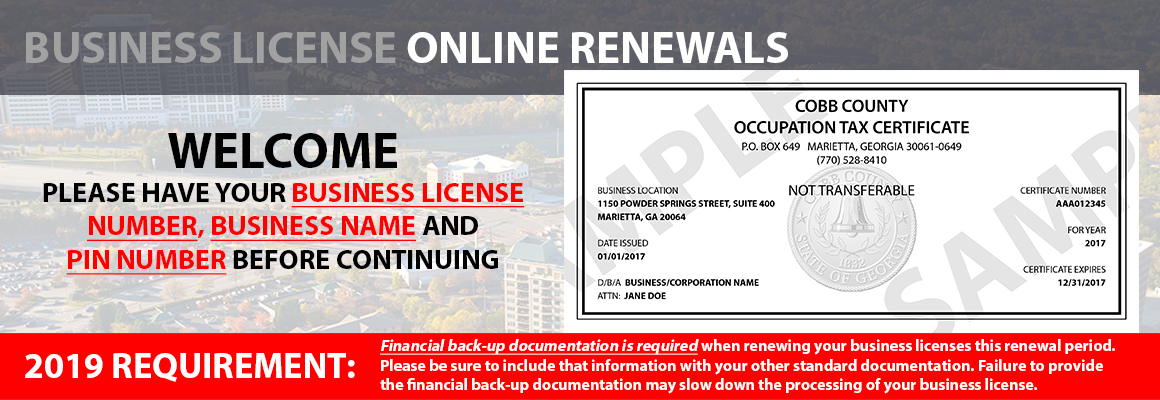 online renewals | cobb county georgia