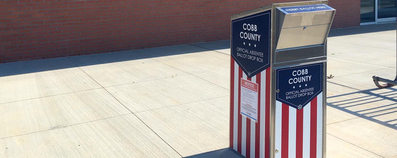 New Absentee Ballot Drop Box Locations Cobb County Georgia