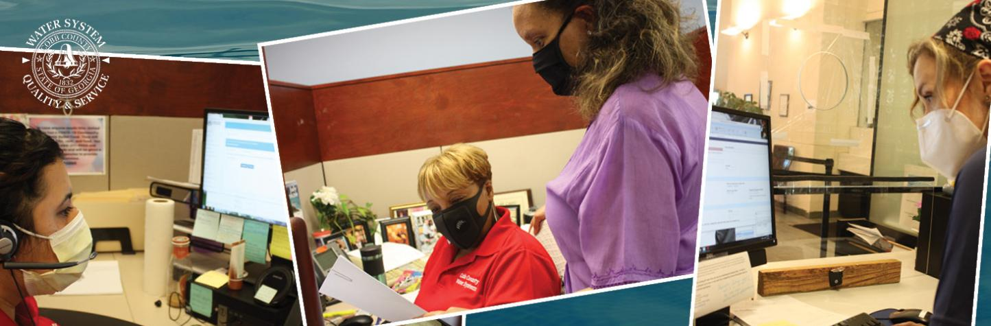 Water Customer Service with Masks