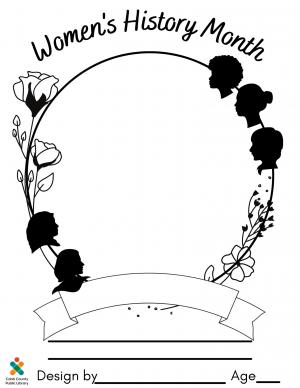 Women 039 S History Month Coloring Contest Cobb County Georgia