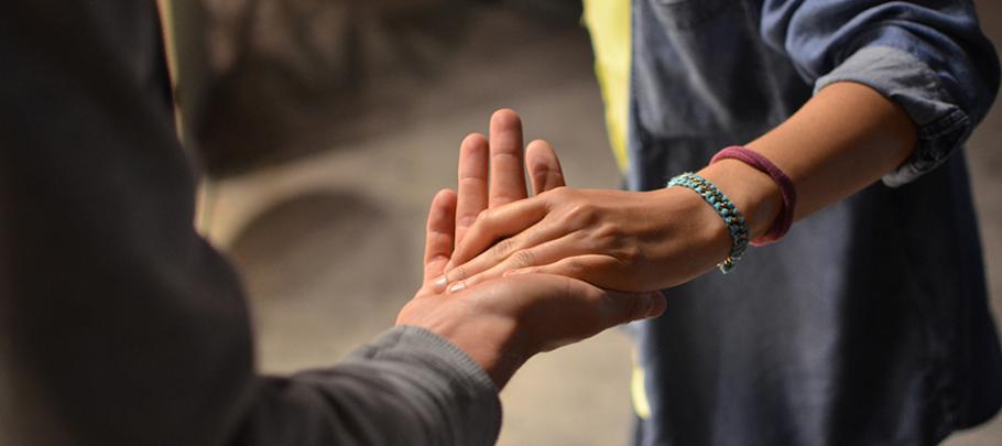 Victim Witness Hands