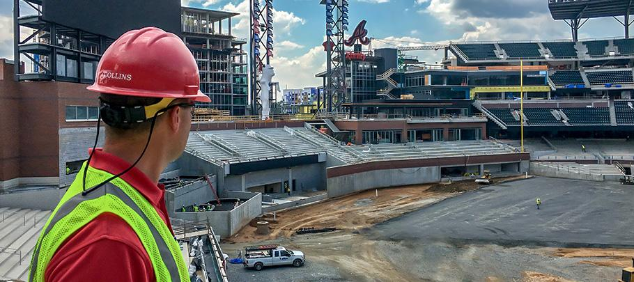 Fire Marshal Inspecting SunTrust Park Construction