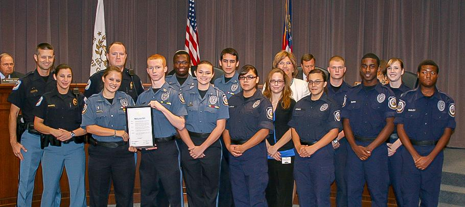 Police Explorers Receiving Awards