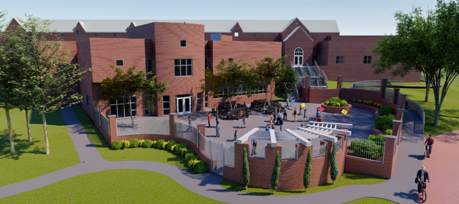 architectural rendering of renovations to Switzer Library