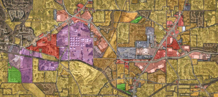 Map of zones in cobb county