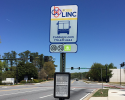 Picture of CobbLinc bus stop sign