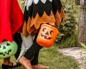 Kids Trick or Treating with Pumpkins