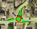 aerial map of roundabout