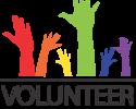 Volunteer hands graphic