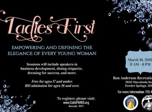 Flyer for the Ladies First event