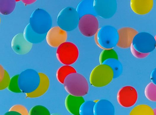 Balloon Release in the Sky