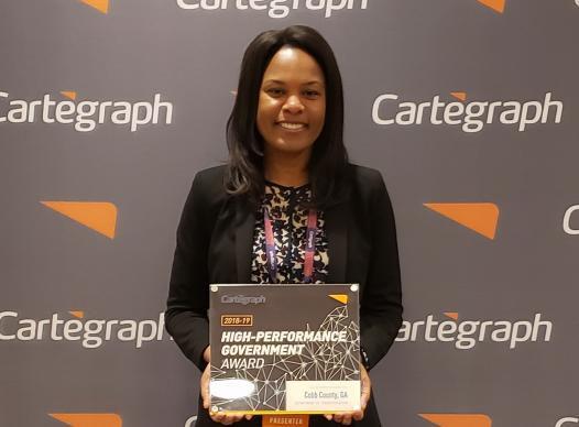 Cartegraph High-Performance Government Award Nadine Bennett-Darby