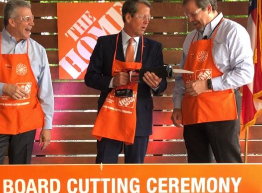 Governor Brian Kemp joins Home Depot officials
