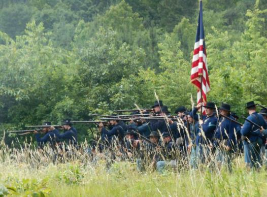 Cicil War Union army soldiers firing