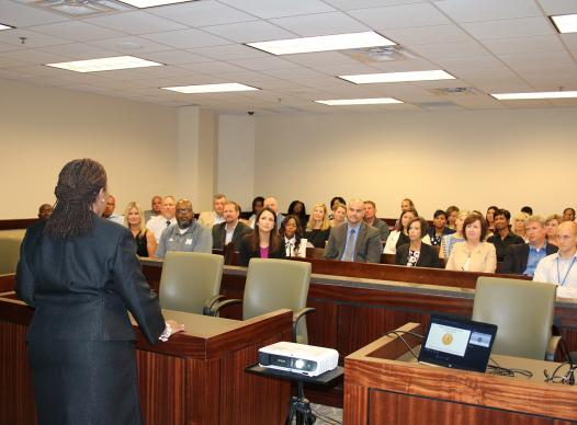 Juvenile Court administrator presents to school administrators