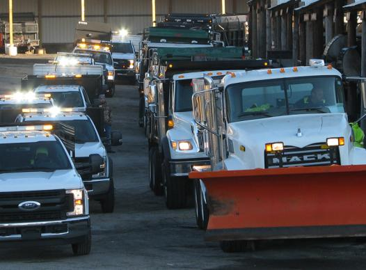 Picture of Cobb DOT inclement weather trucks