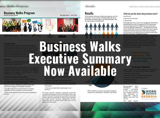 Business Walks Executive Summary Now Available