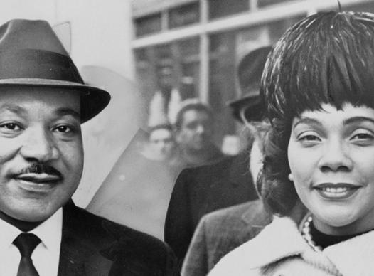 Photo of Martin Luther King and Coretta King
