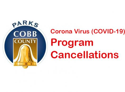 Graphic with Parks logo and Corona Virus Cancellations