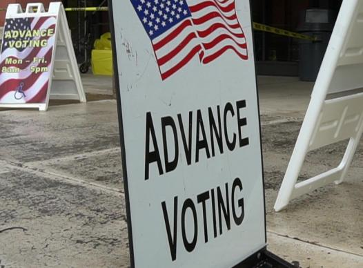 pictures of advance voting signs
