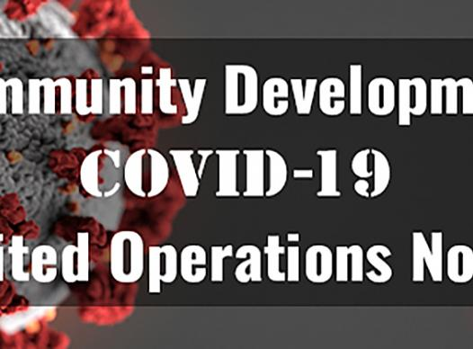 Community Development COVID Notice