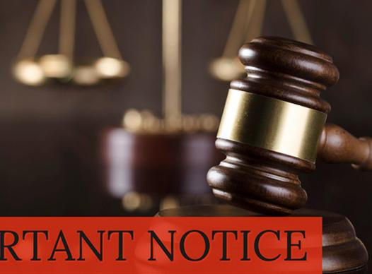 Important Notice Gavel
