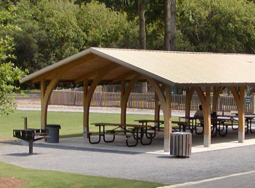 Photo of a picnic pavilion in East Cobb Park