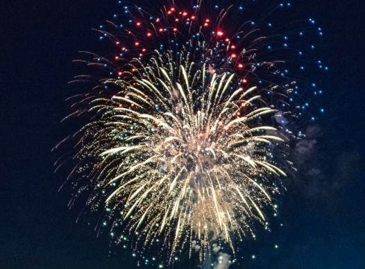 picture of exploding fireworks