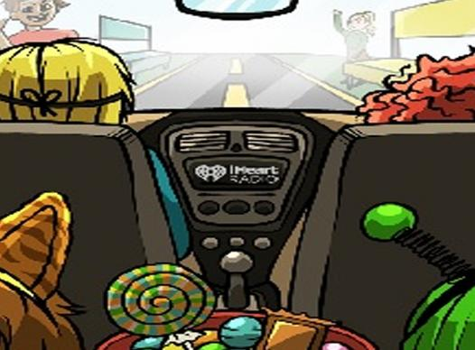 Graphic of family in car going to the fall festival