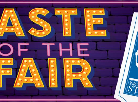 Graphic logo for Taste of the Fair event