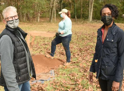 Lisa Cupid at Battle of Ruff's Mill archeological dig