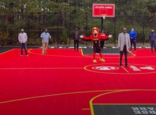 hawks basketball court