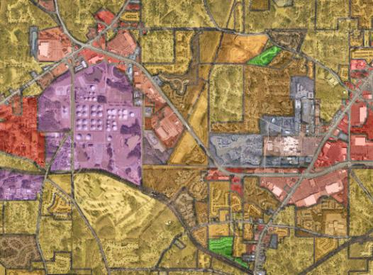 Map of zones in cobb county
