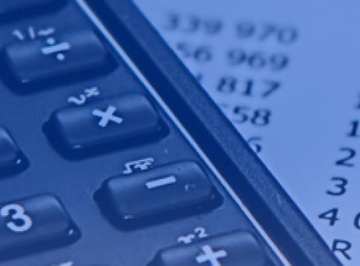 picture of a calculator and spreadsheet