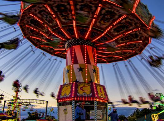 Photo of the swing ride at the fair.