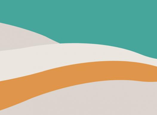 organic waves of teal, cream, and orange