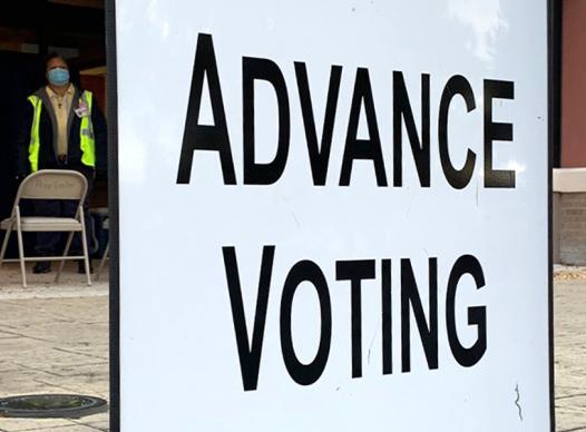 Advance voting sign